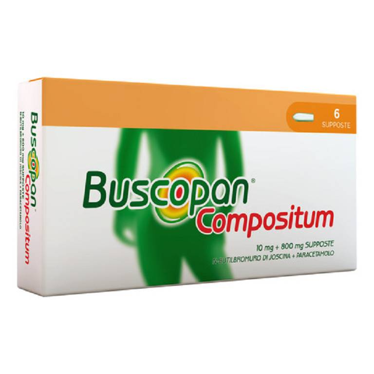 Buscopan Compos C.M. Supposte Adulti 6 Supposte