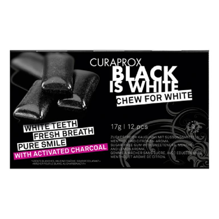 CURAPROX BLACK IS WHITE TG 12P