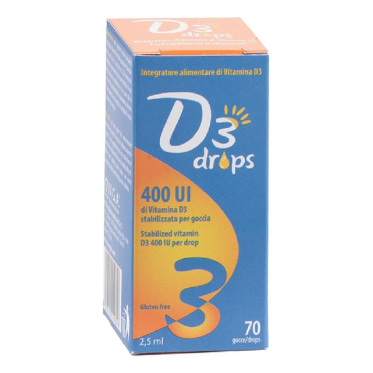 D3 DROPS 400 UI 2,5ML