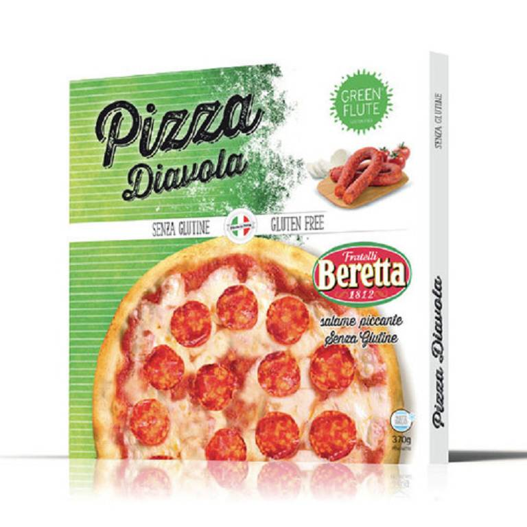 GREEN FLUTE PIZZA DIAVOLA 370G