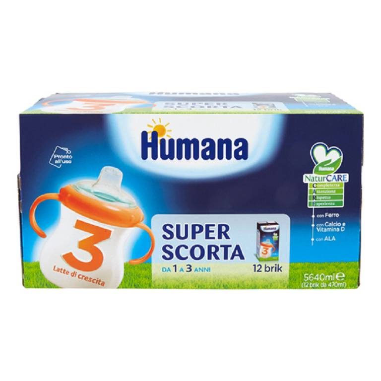 HUMANA 3 JUNIOR DRINK 12X470ML