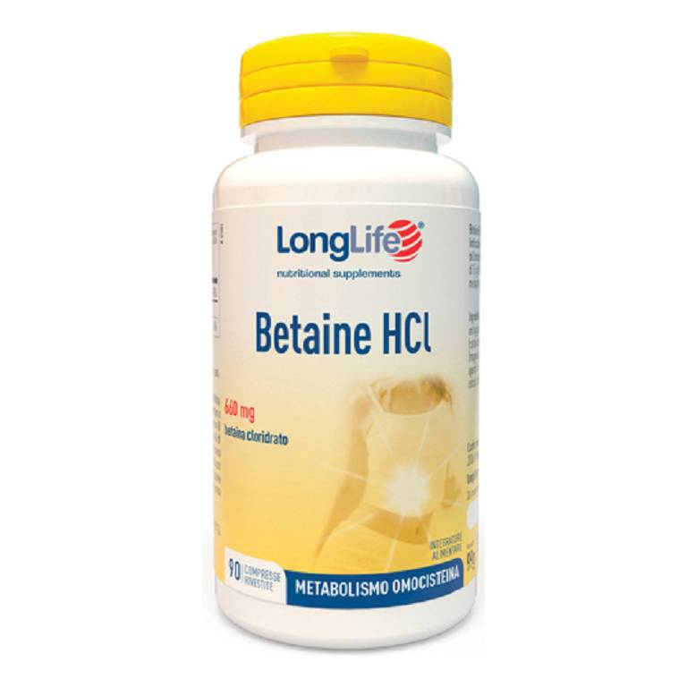 LONGLIFE BETAINE HCL 90CPR
