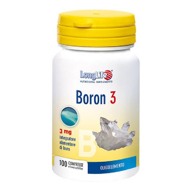 LONGLIFE BORON 3 mg 100 compresse