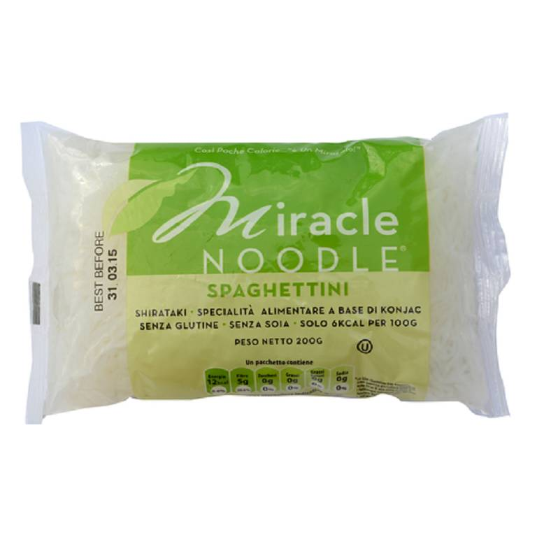 MIRACLE NOODLE SPAGHETTINI 200