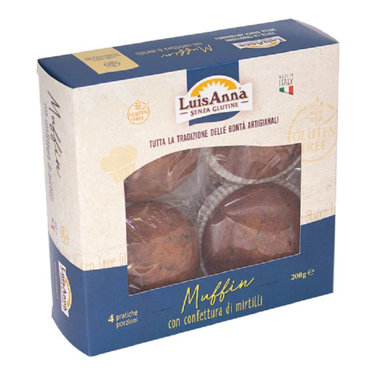 MUFFIN MIRTILLO 4X50G