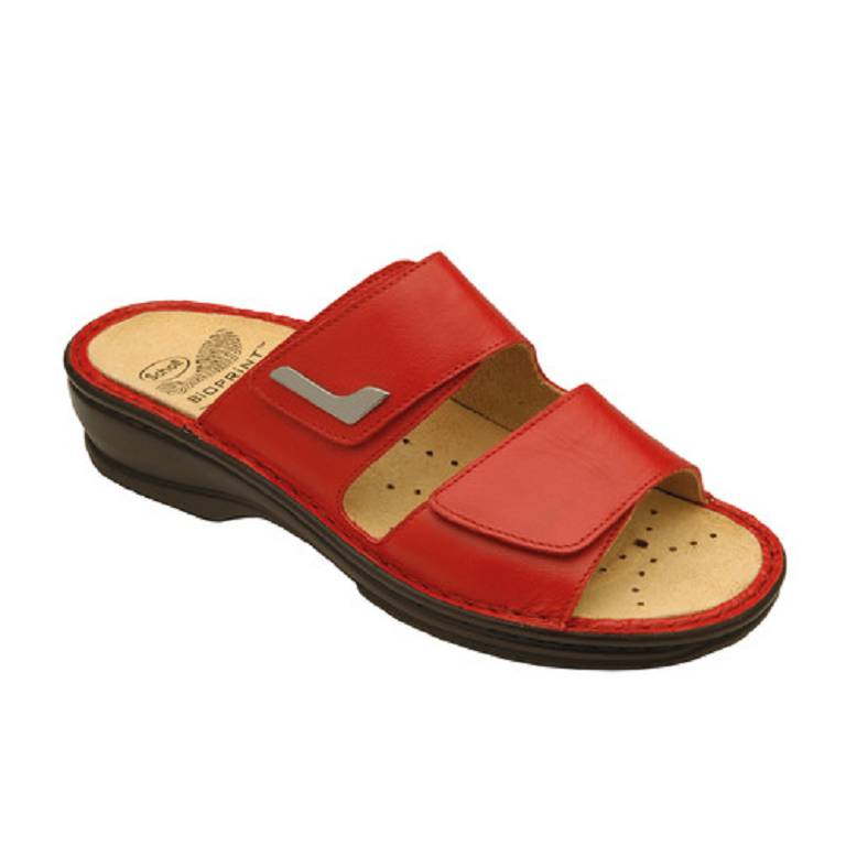 NEW MIETTA NAP LEATH W RED 36
