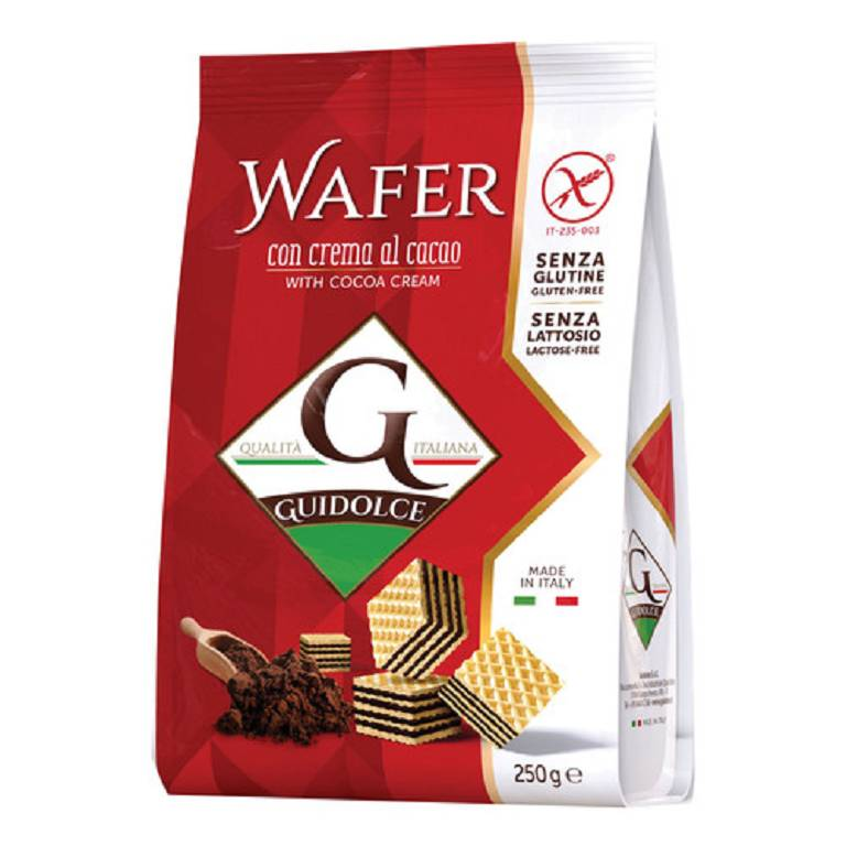 WAFER GUSTO CACAO 250G