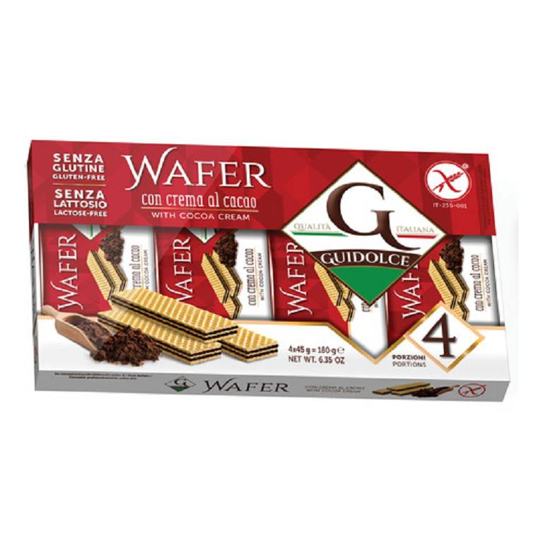 WAFER GUSTO CACAO 4X45G