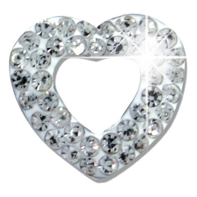 WHITE PAVE OPEN HEART BJT922