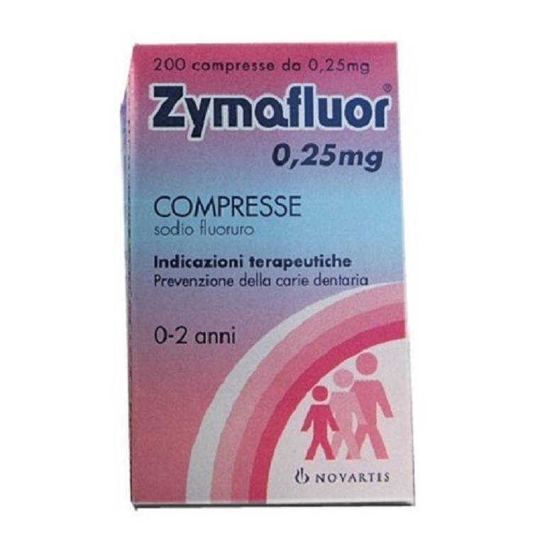 ZYMAFLUOR  0,25 mg 200 Compresse